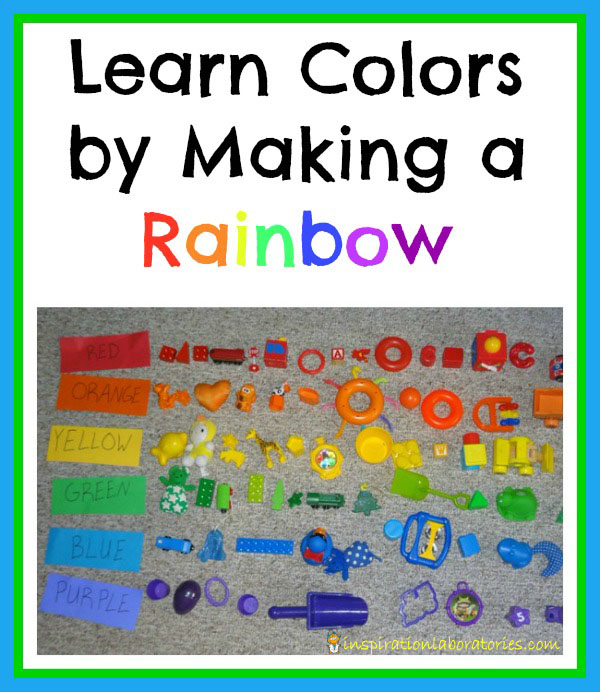 Learn colors by Making a Rainbow