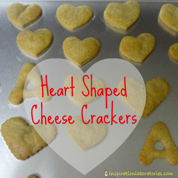 Heart Shaped Cheese Crackers