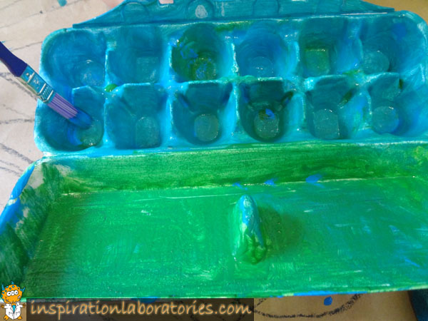 egg carton painting