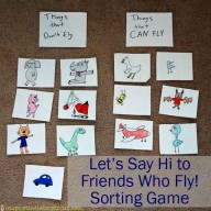 Let's Say Hi to Friends Who Fly! Sorting Game