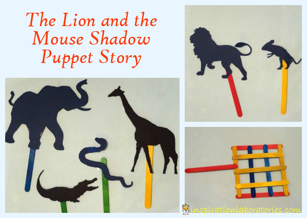 The Lion and the Mouse Shadow Puppet Story