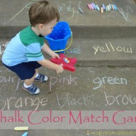 Playing Outside:  Chalk