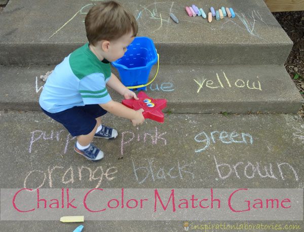 Chalk Color Match Game