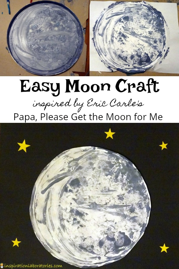 Easy moon craft inspired by Papa, Please Get the Moon for Me by Eric Carle - try this simple painting technique perfect for toddlers and preschoolers.