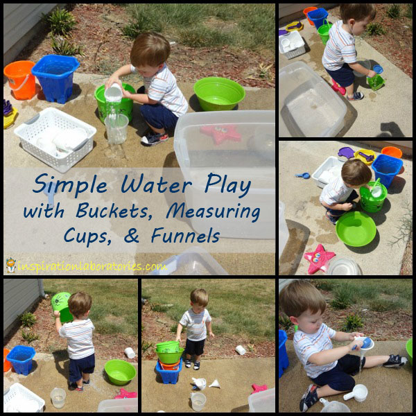 simple outside water play
