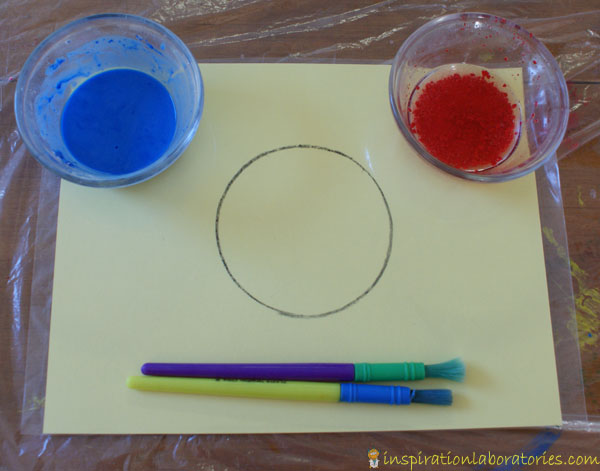 painting with baking soda and vinegar