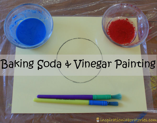 baking soda and vinegar painting