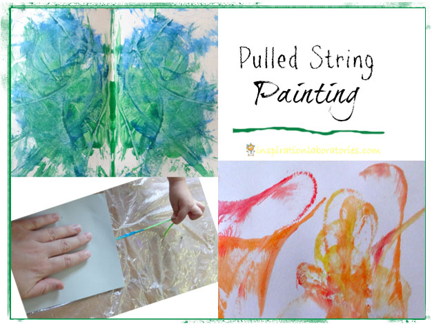 pulled string painting
