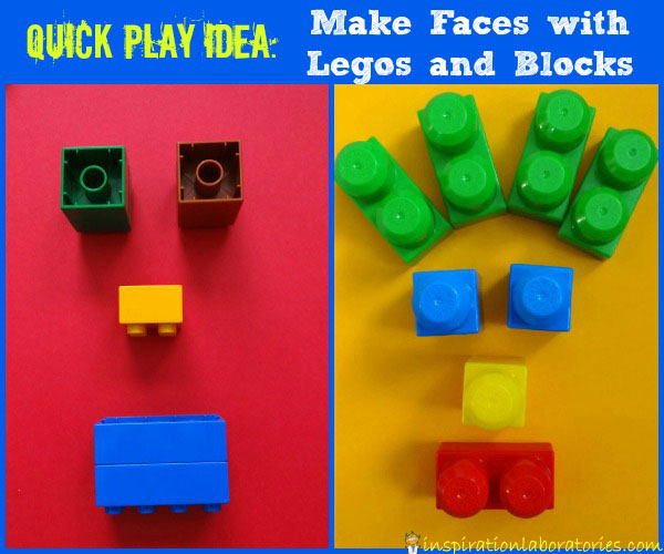 Quick Play Idea: Make Faces with Legos and Blocks