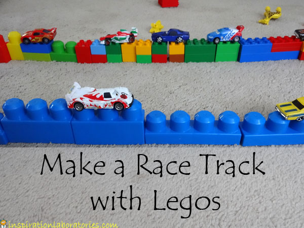 Make a Race Track with Legos