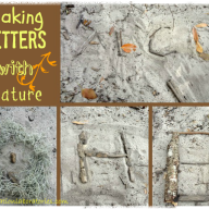 Making Letters with Nature