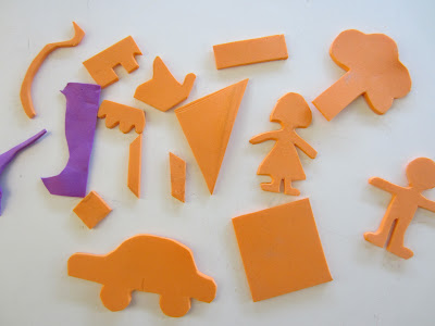 Storytelling with Foam Shapes