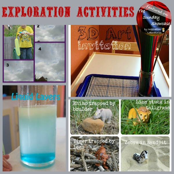 Exploration Activities Featured on the Sunday Showcase