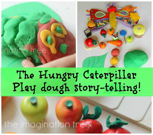 The Hungry Caterpillar Play Dough Storytelling
