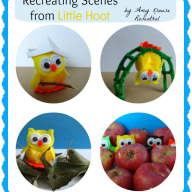 Owl Craft and Play Scenes {Virtual Book Club for Kids}