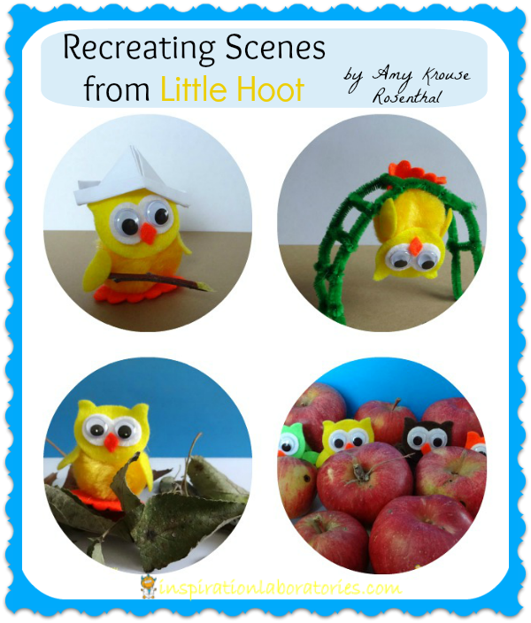 Recreating Scenes from Little Hoot {Virtual Book Club for Kids}