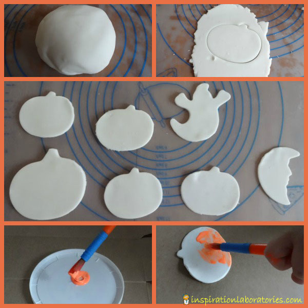 glow in the dark Halloween shapes