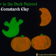 Halloween Craft: Glow in the Dark Painted Cornstarch Clay