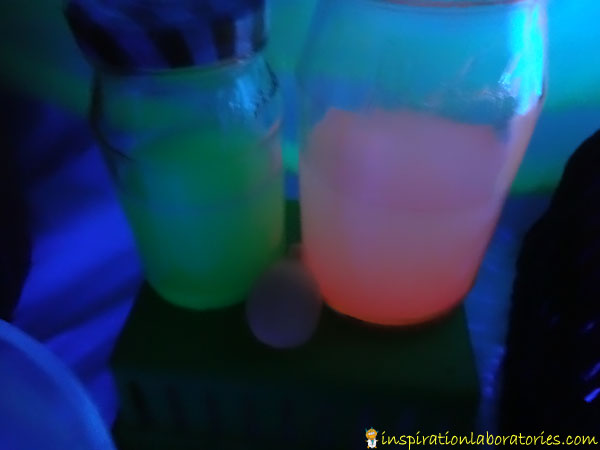 glow in the dark water