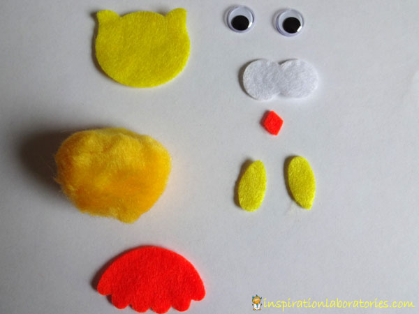 owl craft kit pieces