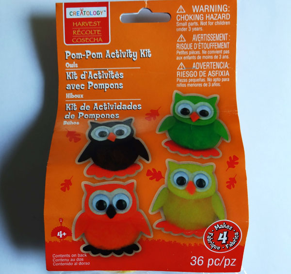 owl craft kit from Michael's