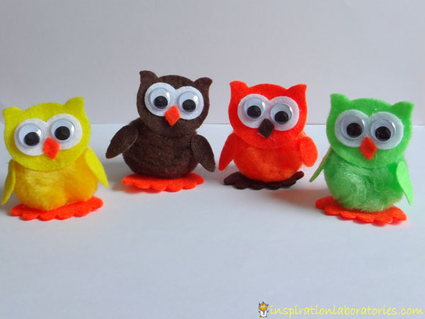 owls from owl craft kit