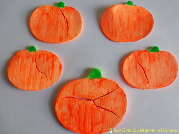 glow in the dark painted pumpkins