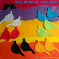 The Birds of Bethlehem Felt Story {Virtual Book Club for Kids}