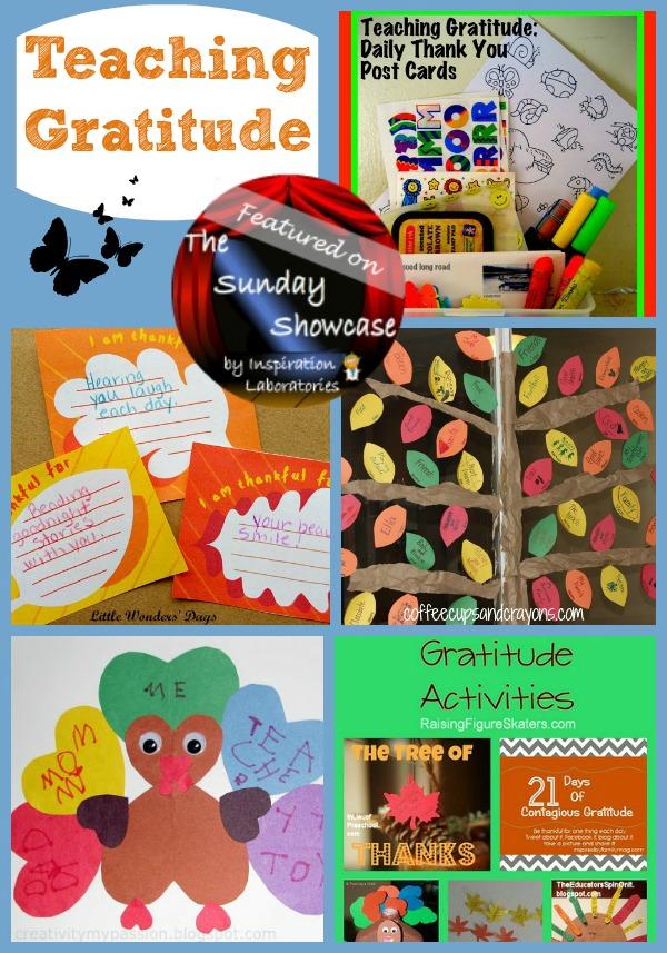 activities that teach gratitude