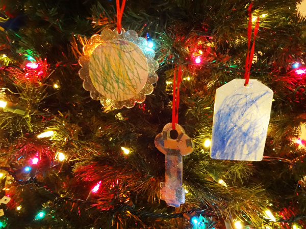 Christmas Ornaments with Mod Podge and Children's Art