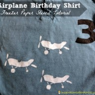 Airplane Birthday Shirt: Freezer Paper Stencil Tutorial