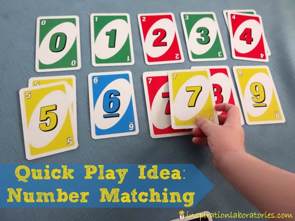 Quick Play Idea: Number Matching Game