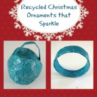 Recycled Christmas Ornaments that Sparkle