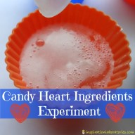 Valentine Candy Science: Candy Heart Ingredients Experiment