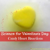 Valentine Candy Science: Candy Heart Reactions