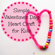 Simple Valentine Heart Craft