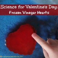 Valentine Science: Frozen Vinegar Hearts