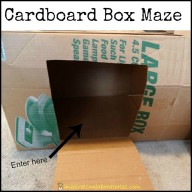 Cardboard Box Maze and Play Tunnel