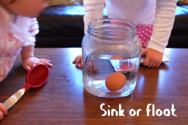 Floating Egg Experiment http://inspirationlaboratories.com/preschool-science-experiments/