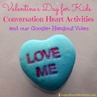 Conversation Hearts Valentine Activities for Kids