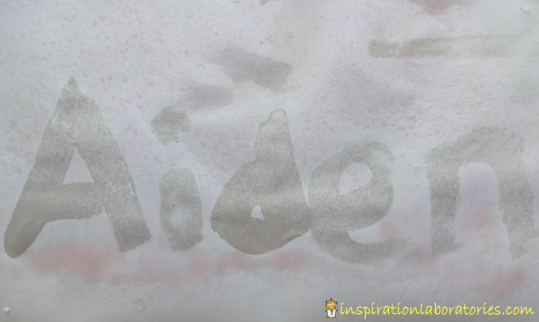 Secret Messages with Baking Soda