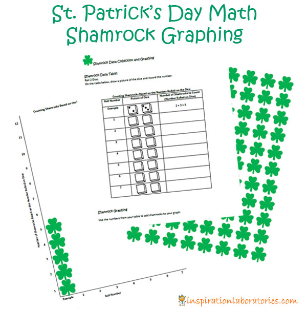 Shamrock Math Printables Shamrock Graphing for St. Patrick's Day