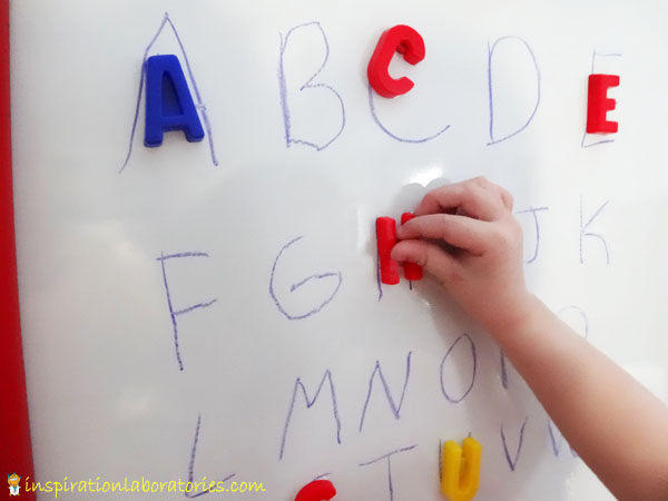 Use Capital Letters for Letter Sound Race