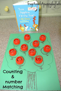 Number Matching from Frogs & Snails & Puppy Dog Tails