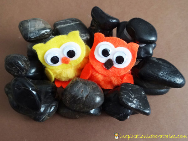 stone craft with owls