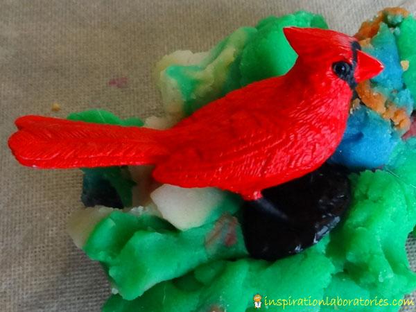Cardinal in Play Dough