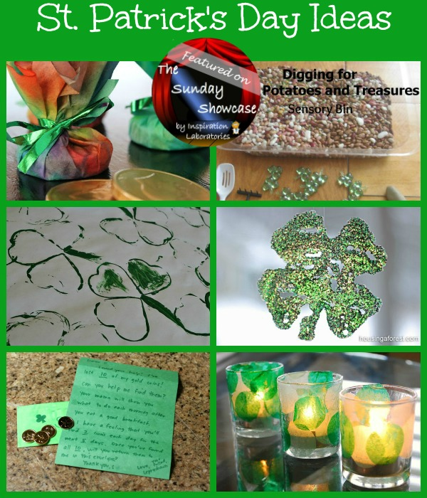St. Patrick's Day Ideas for Kids Featured on the Sunday Showcase at Inspiration Laboratories