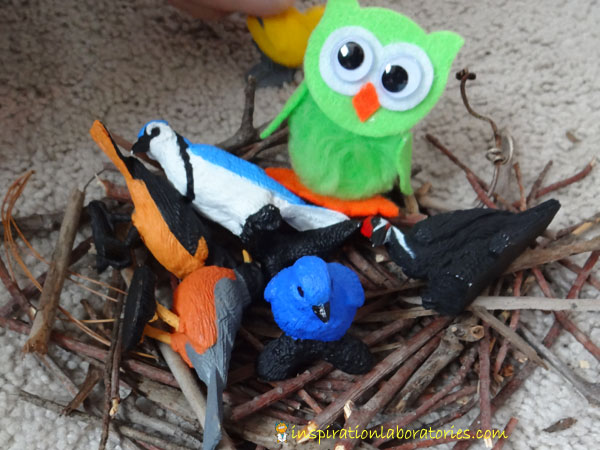 Pretend play - birds in a nest
