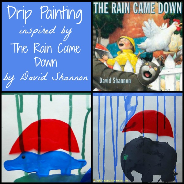 Drip Painting Inspired by The Rain Came Down by David Shannon