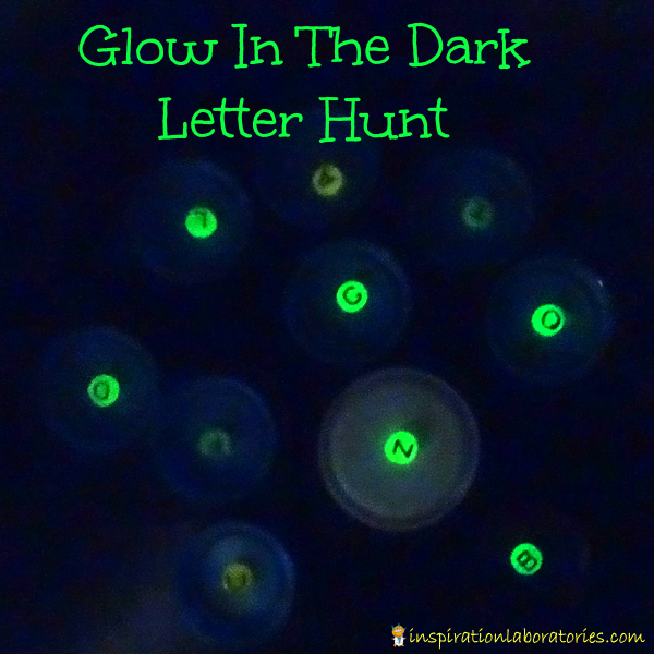 Letter Practice: Glow in the Dark Letter Hunt